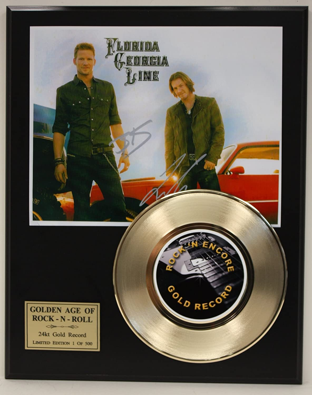 Florida Georgia Line Gold Record Signature Series LTD Edition Display Gold Record Outlet