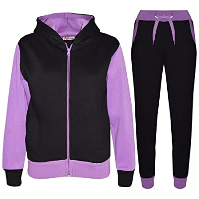 A2Z 4 Kids® Kids Tracksuit Girls Boys Fleece Hooded Hoodie Bottom Jogging Suit Jogger 2-13Yr
