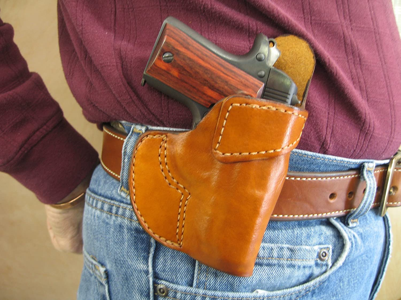 Llama Micro 380 Leather 1 Slot OWB Belt Concealment Holster CCW TAN RH