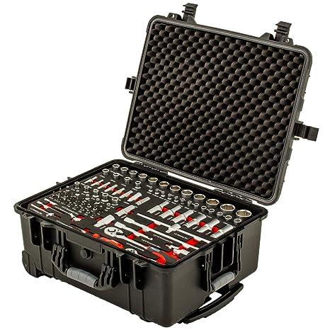 Caja de herramientas múltiple con ruedas de 130 piezas de Ragnor ?Hardcase S-Welt