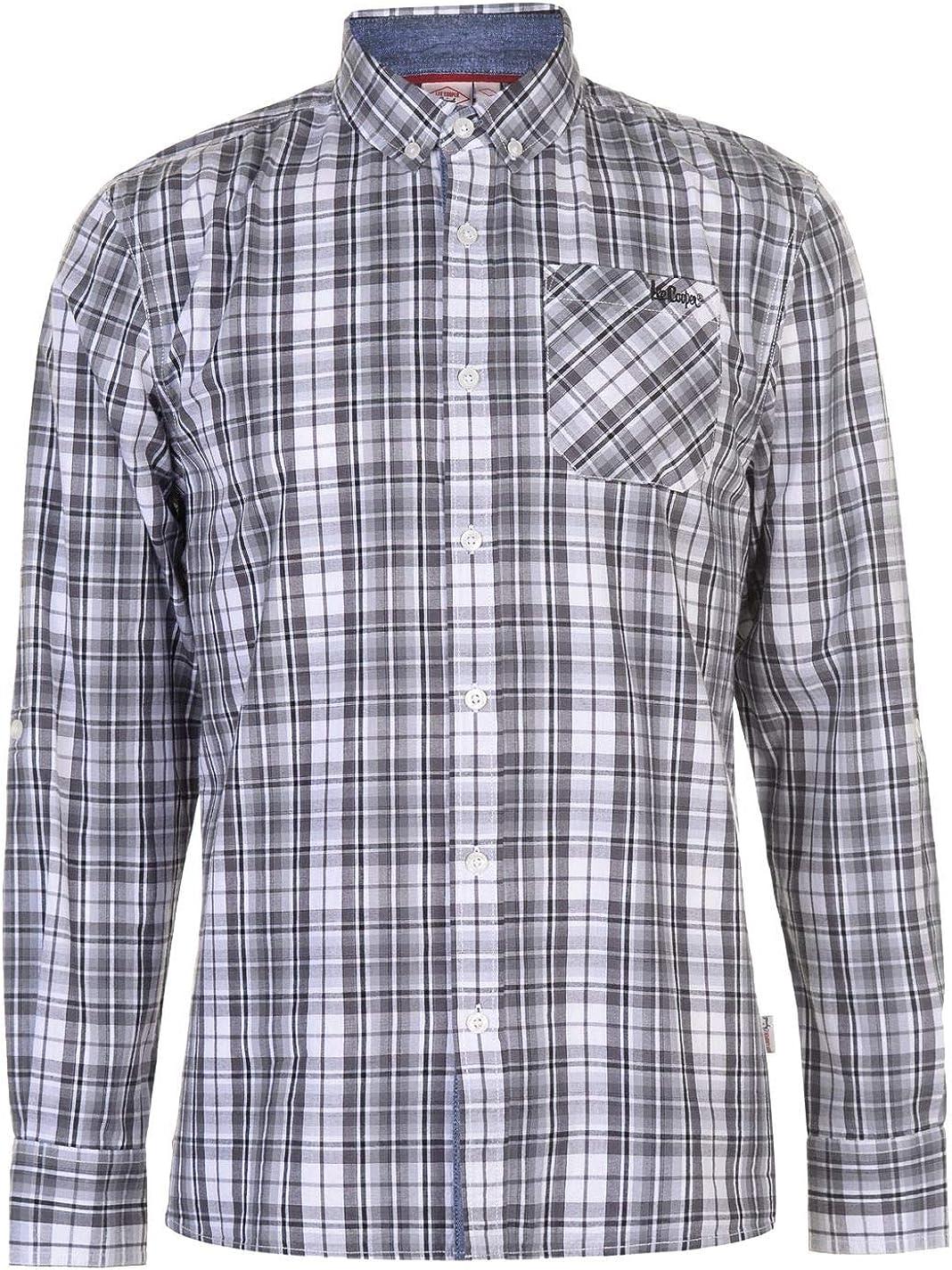 LEE COOPE - Camisa casual - para hombre Gris/Noir/Blanc L ...