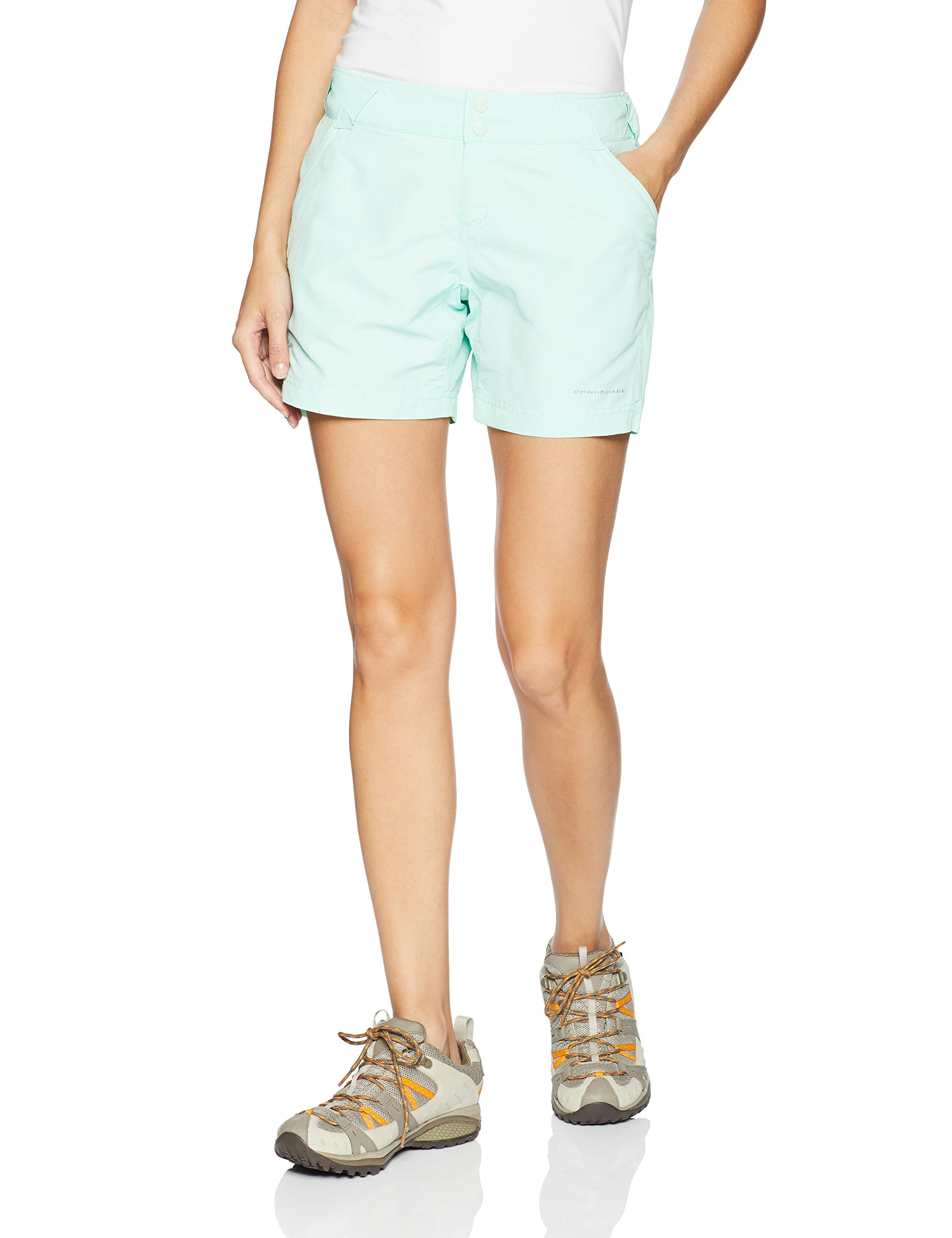 Columbia Women's Coral Point II Short, UV Sun Protection, Moisture Wicking Fabric, Sea Ice, X-Large x 6'' Inseam by Columbia