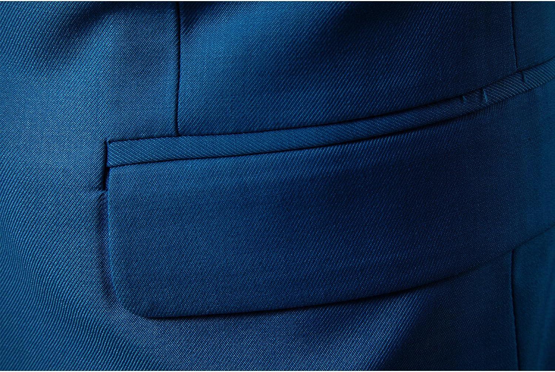 LEOCLOTHO Costume Homme Casual Formel Elegant Un Bouton Business Affaire Suit Slim Fit Blazer Mariage Soir/ée