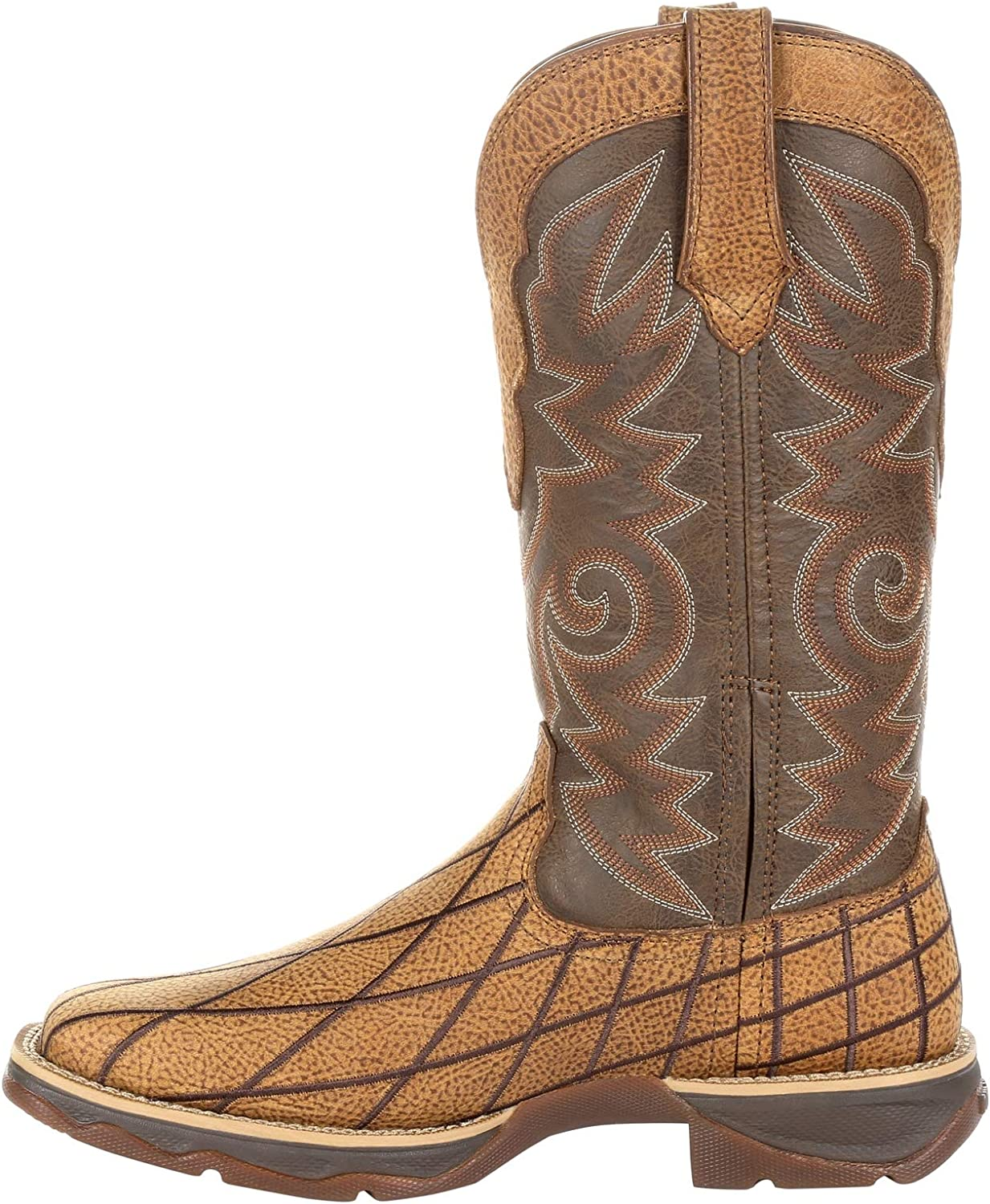 Durango Lady Rebel Womens 11 Patchwork Western Boot-DRD0333
