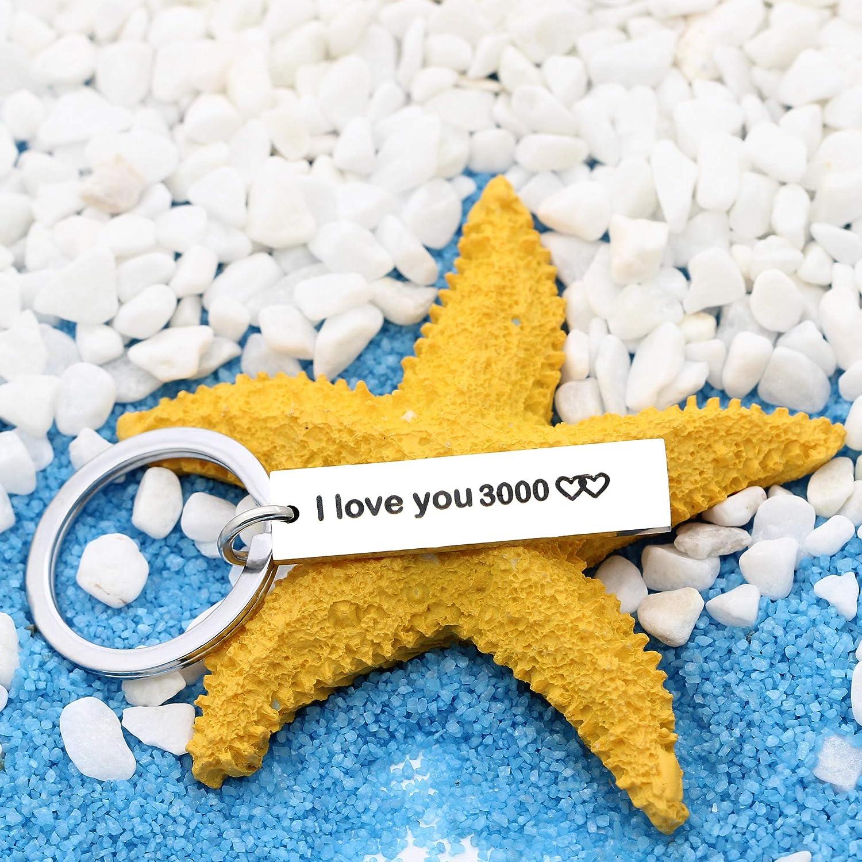 Porte-cl/és avec Pendentif /« I Love You 3000 /» pour Accessoires Unisexe