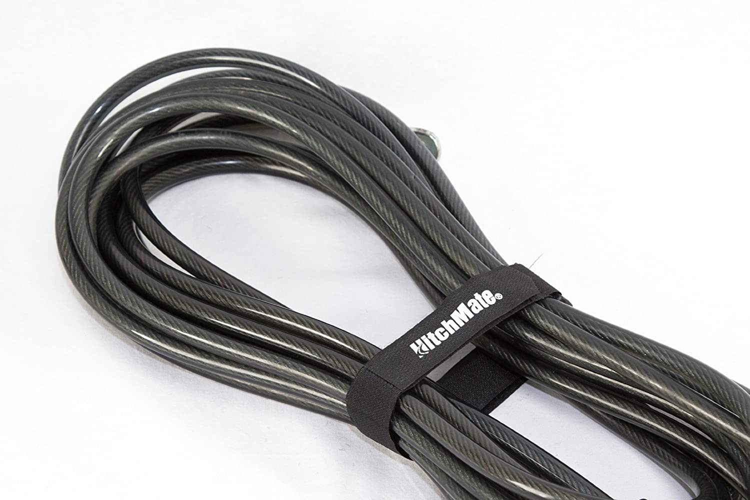 Pack of 25 Heininger HitchMate 4086 QuickCinch Black 21 hook and loop Soft Strap,