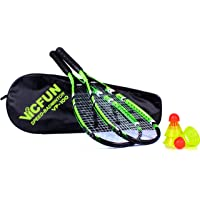 VICFUN Speed Badminton Set 100, schwarz/grün