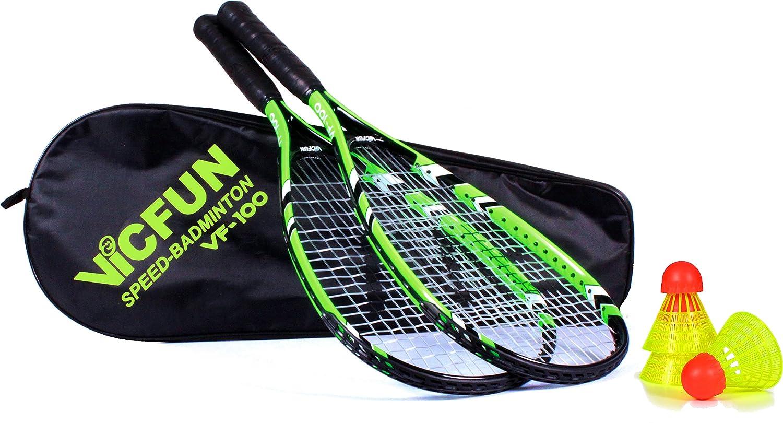 VICFUN Speed Badminton Set Vicfun Speed Badminton 100 Set, schwarz/grün, 868/0/0 schwarz/grün