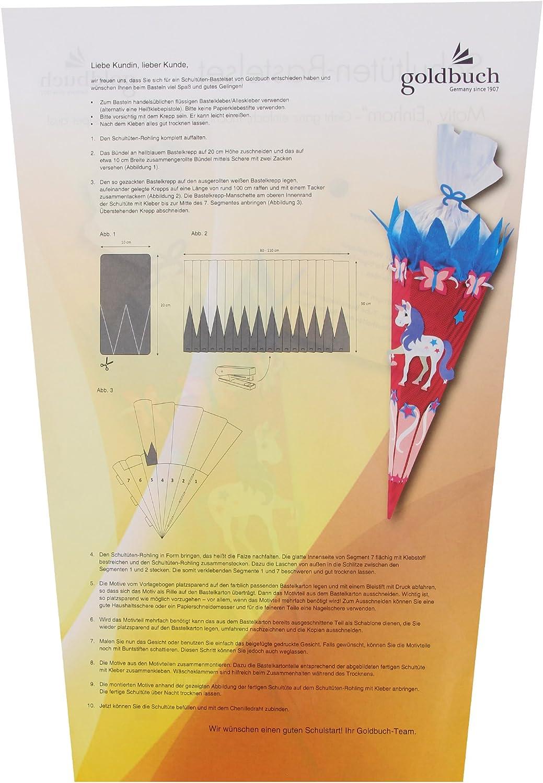 1 Chenilledraht Gr/ün 2 Krepp-Rollen Inkl 97701 Fu/ßball 70 cm Goldbuch Schult/üten-Bastelset Mit 3D-Wellpappe