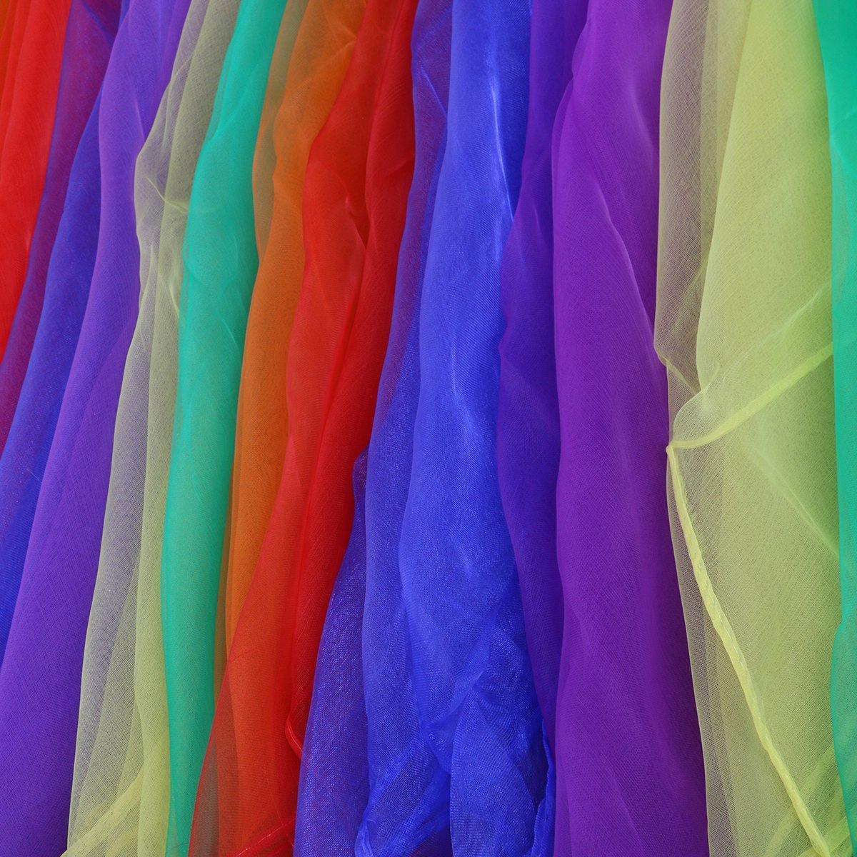 6 Colori VORCOOL 6pz Danza Sciarpe Garza di Giocoleria