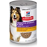 Hill's Science Diet Wet Dog Food, Adult, Sensitive Stomach & Skin 12-Pack Cans
