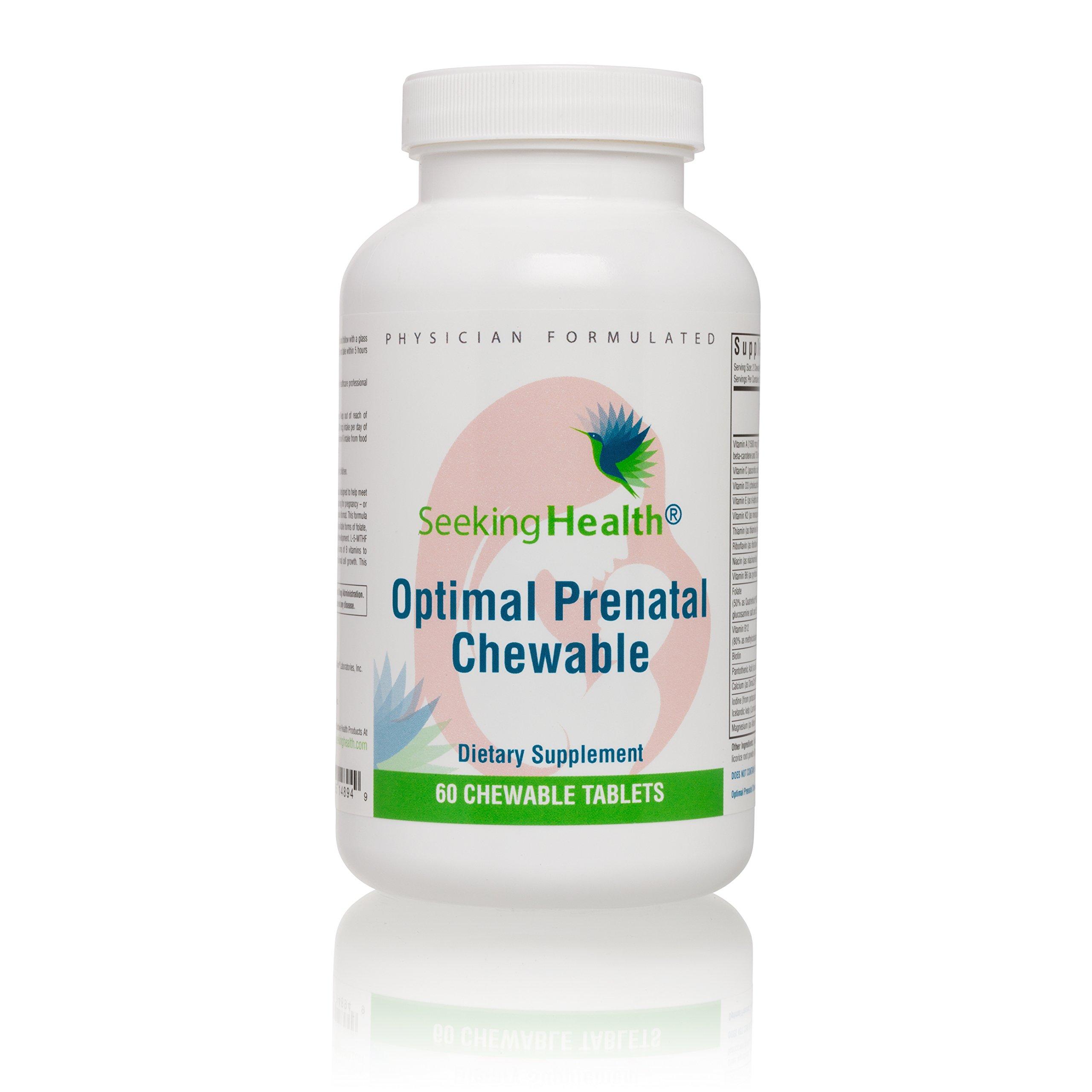 Seeking Health   Optimal Prenatal Chewable l Prenatal Vitamins   Prenatal Supplement for Women