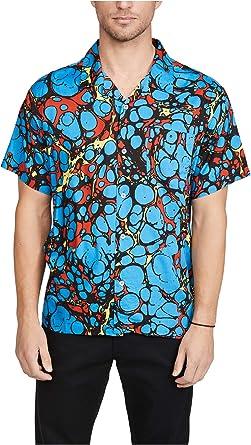 Obey Botched Woven Camisa Ligera y Fresca Azul Multi Turquesa ...