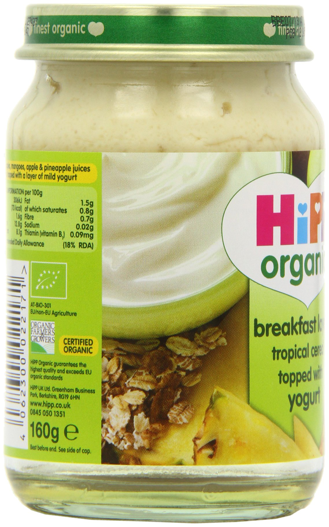 HiPP Organic Stage 2 From 7 Months Breakfast Duet Tropical Cereal with Yogurt 6 x 160 g (Pack of 2, Total 12 Pots) by Hipp (Image #7)