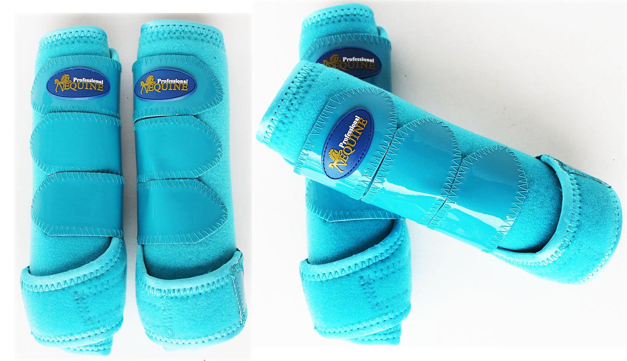 Professional Equine Horse Medium 4-Pack Sports Medicine Splint Boots 4150C