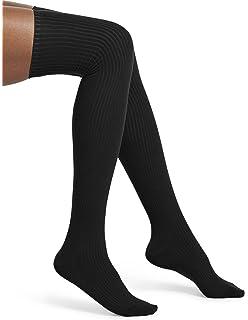 90d0aa2c353 Hue Women s Metallic-Stripe Textured Over-The-Knee Socks