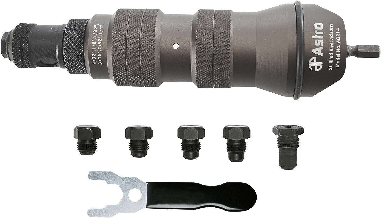 "Astro Pneumatic Tool ADR14 XL Blind Rivet Adapter Kit - 1/4"" Capacity"