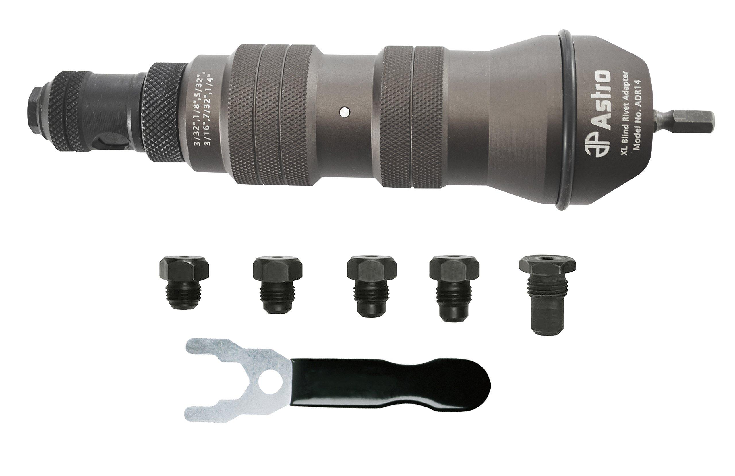 Astro Pneumatic Tool ADR14 XL Blind Rivet Adapter Kit - 1/4'' Capacity by Astro Pneumatic Tool