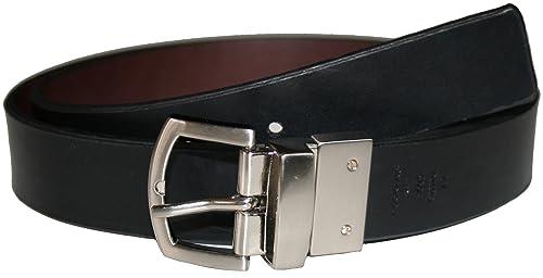 Dockers Mujer Reversible Cinturón, 30mm de ancho, disponible en XL o 2x l, color negro/marrón