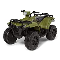 Kid Trax Yamaha ATV Toddler/Kids Electric Ride On Toy, 12 Volt, 3-7 yrs Old, Max Weight 130 lbs, Single or Double Riders, MP3 Player Input, Kodiak Green