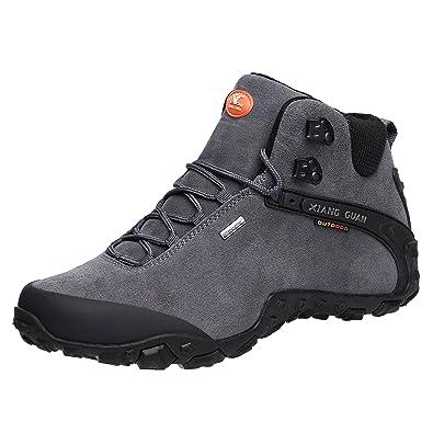 561f6ad5d1560 XIANG GUAN Scarpe da Escursionismo da Passeggio da Trekking Outdoor Stivali  in Pelle per Invernali Uomo 82287  Amazon.it  Scarpe e borse