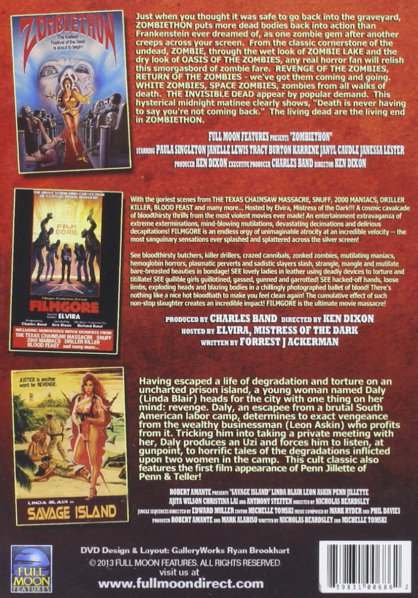 Amazon.com: Full Moon\'s Grindhouse Collection: Zombiethon, Filmgore ...