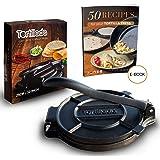 Tortillada – Premium Cast Iron Tortilla Press with Recipes (10 Inch) / Biggest Tortilla Press in the Market (10 Inch)