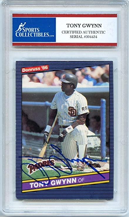 Tony Gwynn 1986 Dondruss San Diego Padres Autographed Signed