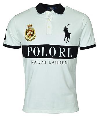 dff5b3995e Polo Ralph Lauren Mens Custom Slim Fit Crest Polo Shirt