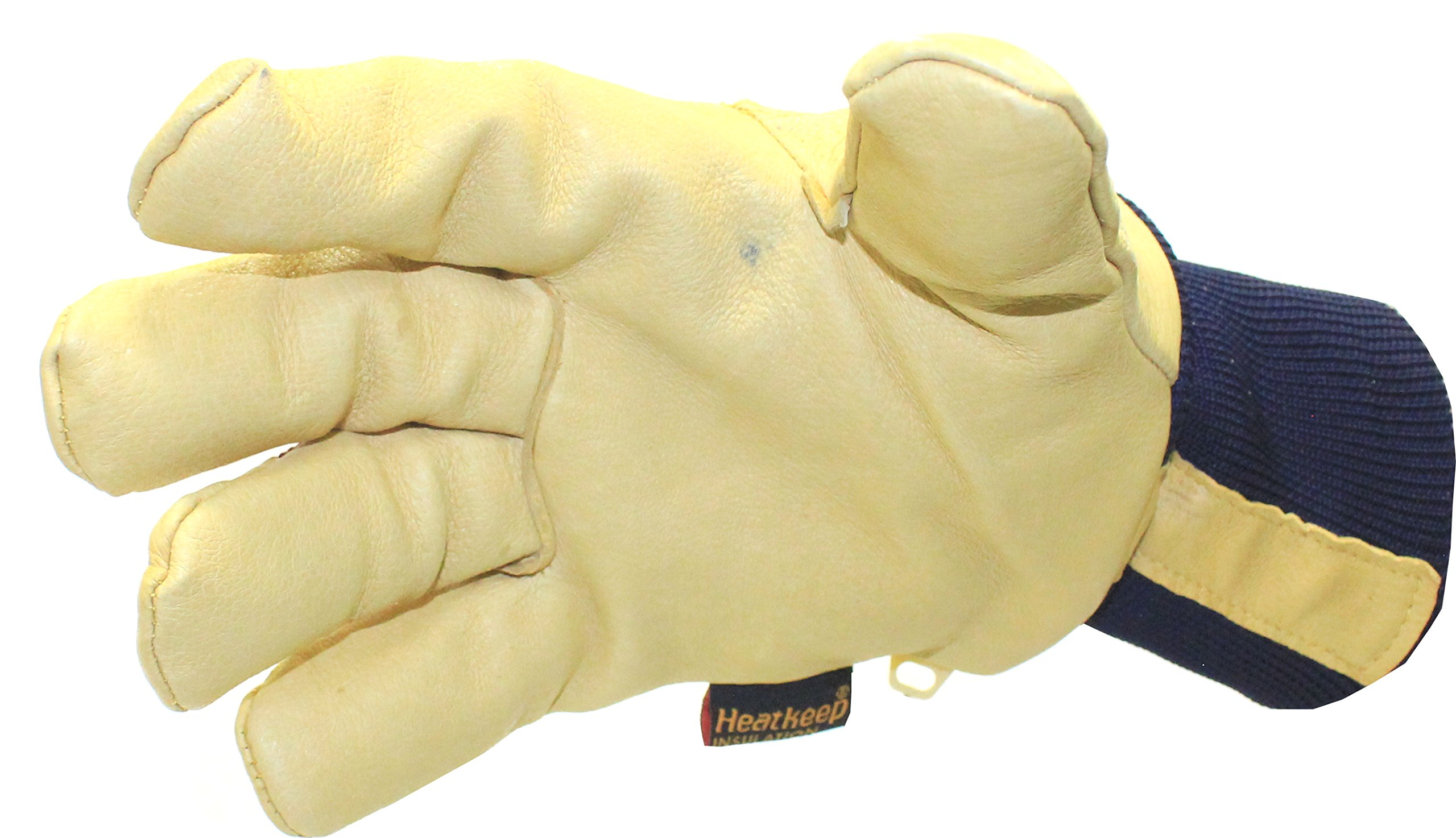 Kinco 1927KW Lined Grain Pigskin Leather Glove with Knit Wrist, Work, Large, Palomino (Pack of 6 Pairs) by KINCO INTERNATIONAL (Image #6)