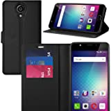 BLU LIFE ONE X2 case, KuGi BLU LIFE ONE X2 case ultra-thin MX style PU Cover + TPU Back Wallet stand Case For BLU LIFE ONE X2 smartphone(Black)