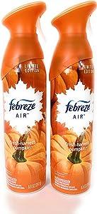 Febreze Air - Air Freshener Spray - Limited Edition - Winter Collection 2017 - Fresh-Fall Pumpkin - Net Wt. 8.8 OZ (250 g) Per Bottle - Pack of 2 Bottles
