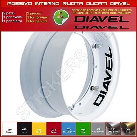 Ducati Diavel Sticker Für Rollen Teil Speicher Liniert Für Felgen Aufkleber Cód 0218 070 Schwarz Motorrad