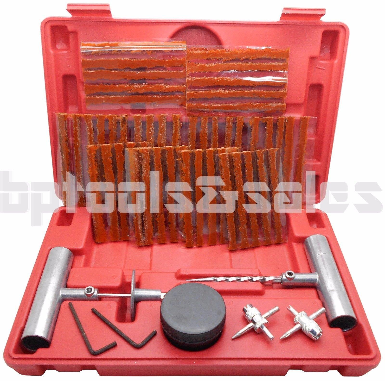 57pc Tire Repair Kit DIY Flat Tire Repair Car Truck Motorcycle Home Plug Patch