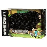 "JINX Minecraft Sheep Plush Stuffed Toy (Black, 10"" Long) with Display Box"