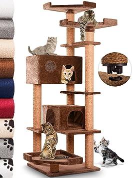 Leopet - Rascador para Gatos de Altura 164 cm - 2 Cuevas y 3 Plataformas - Colores a Elegir: Amazon.es: Hogar