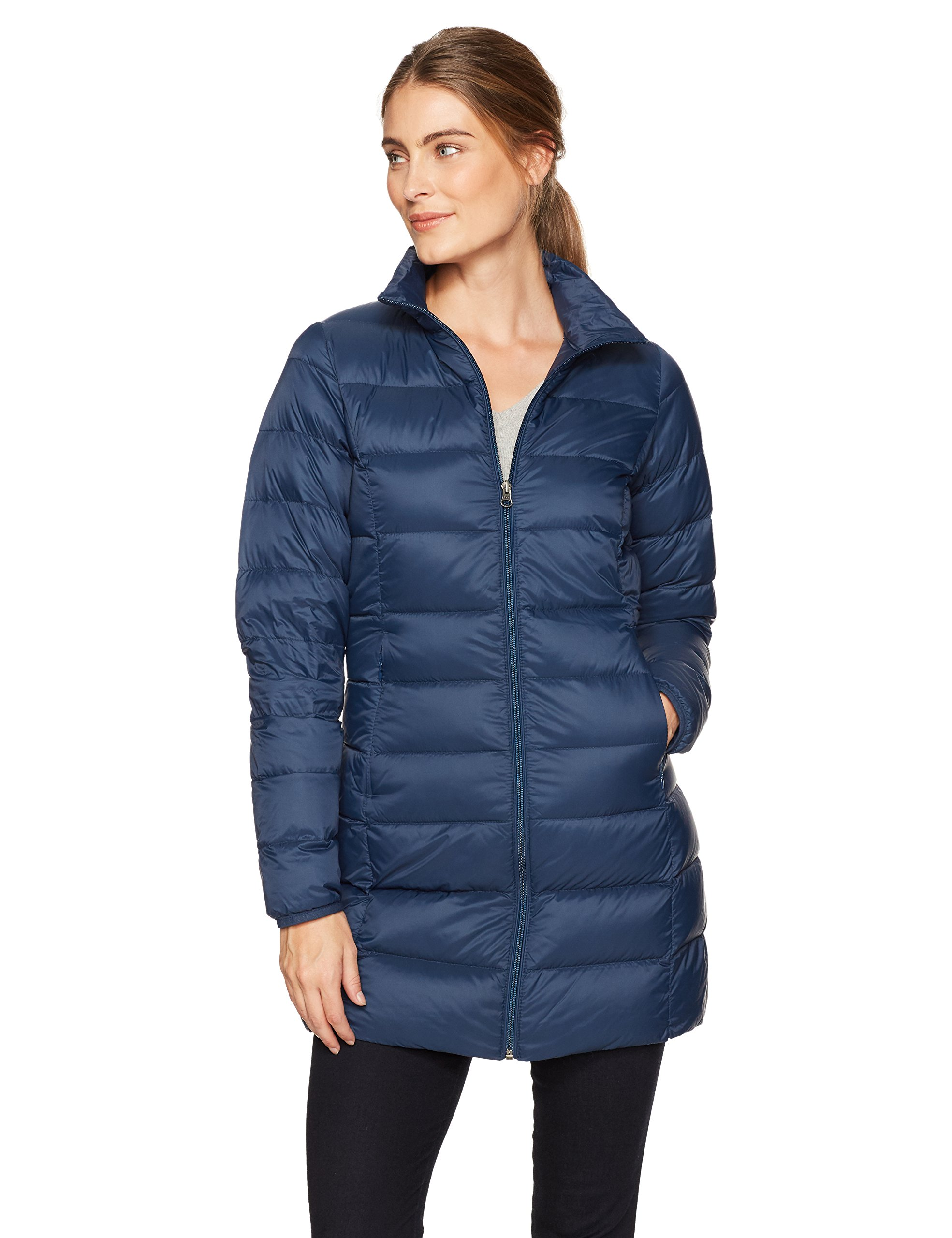 Amazon Essentials Women's Lightweight Water-Resistant Packable Down Coat, Navy, X-Large