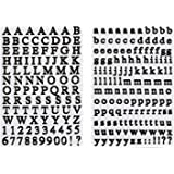 JAM Paper Self Adhesive Alphabet Letters Stickers - Black - 2/pack