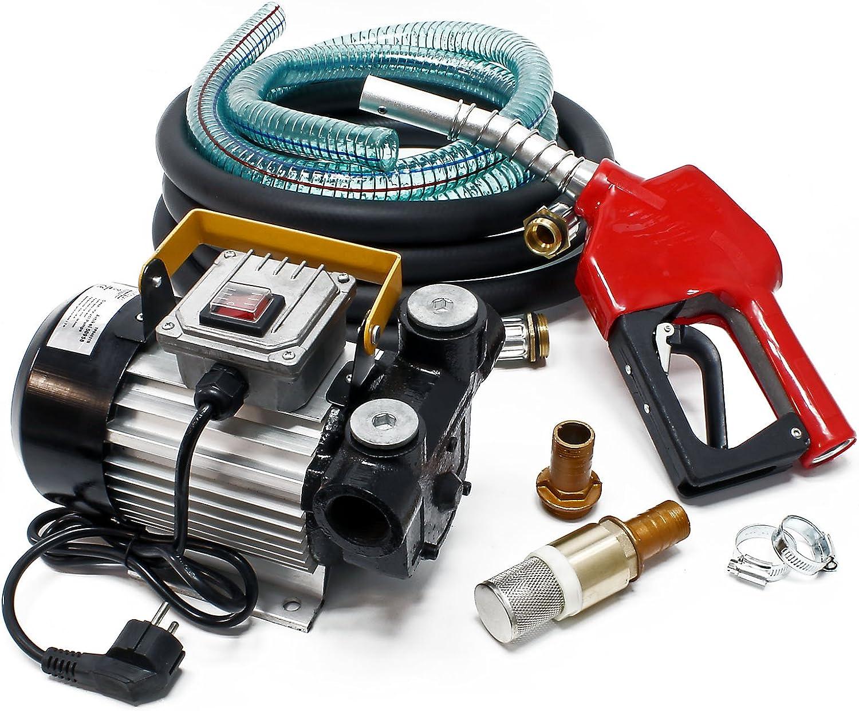 Bomba autocebante para Bio Diesel y gasóleo con 230V 550W 60l/h con Pistola Maquinaria Calefacción