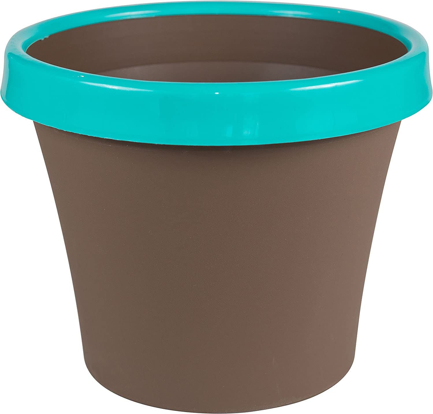 Bloem Terra Two-Tone Planter 12 Chocolate w Calypso