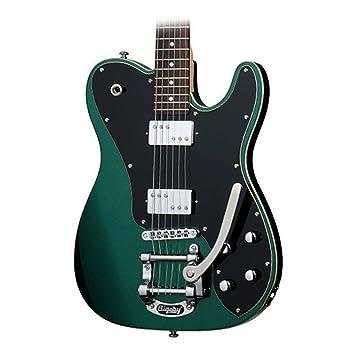 Schecter PT Fastback IIB – Guitarra eléctrica, color verde esmeralda
