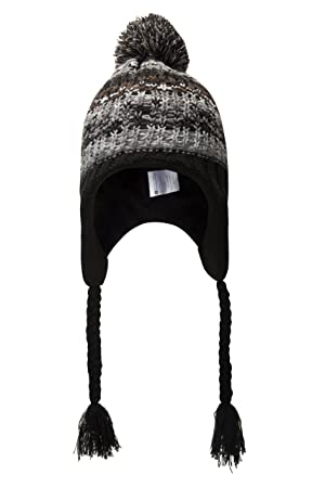 81e66bcb872 Mountain Warehouse Warped Knitted Men s Trapper Hat - Fleece Lining for  Extra Warmth   Comfort with