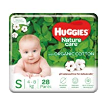 Huggies Premium Nature Care Pants Small Size Diapers 28 Pieces