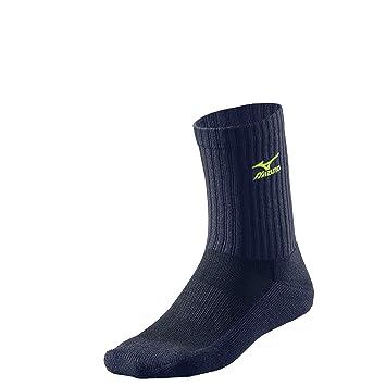 Mizuno - Calcetines de voleibol de largura media, unisex, color azul y amarillo fluorescente: Amazon.es: Deportes y aire libre