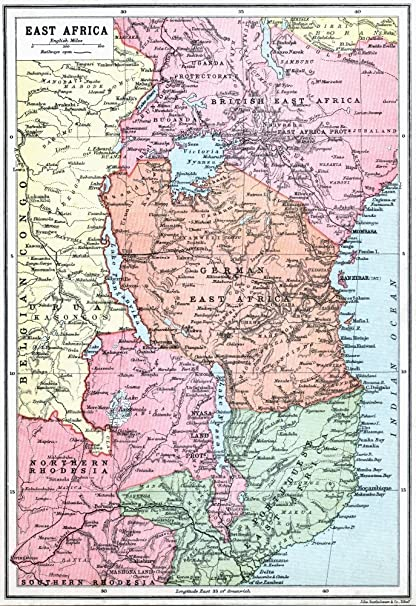 Amazon map of east africa at beginning of first world war from map of east africa at beginning of first world war from the great world war a gumiabroncs Gallery