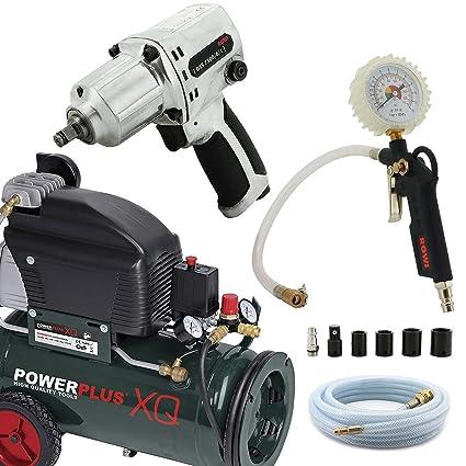 Impresión Set de aire Compresor De Neumáticos Pistola de aire comprimido Impacto 5 m manguera de