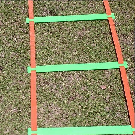 Escalera Deportiva de la escalerade entrenamiento Escalera de agilidad en casa Escalera de entrenamiento de velocidad de salto Equipo de entrenamiento de fútbol de baloncesto Taekwondo amarillo verde: Amazon.es: Hogar