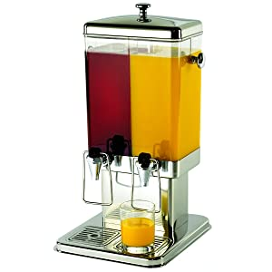 """TableCraft Products 70 (2) 1.5 gal Double Beverage Dispenser, 11.5 x 13.5 x 22.75"""""""