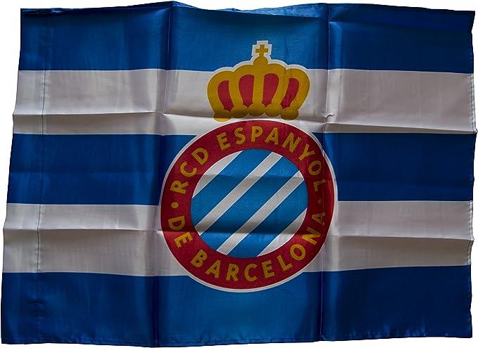 RCD Espanyol Badesp Bandera, Azul/Blanco, 150 x 100 cm: Amazon.es: Deportes y aire libre