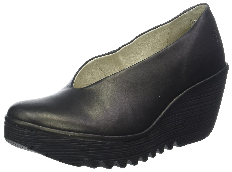 Fly London Yaz, Zapatos de tacón con Punta Cerrada para Mujer, Dorado (Bronze 228), 39 EU